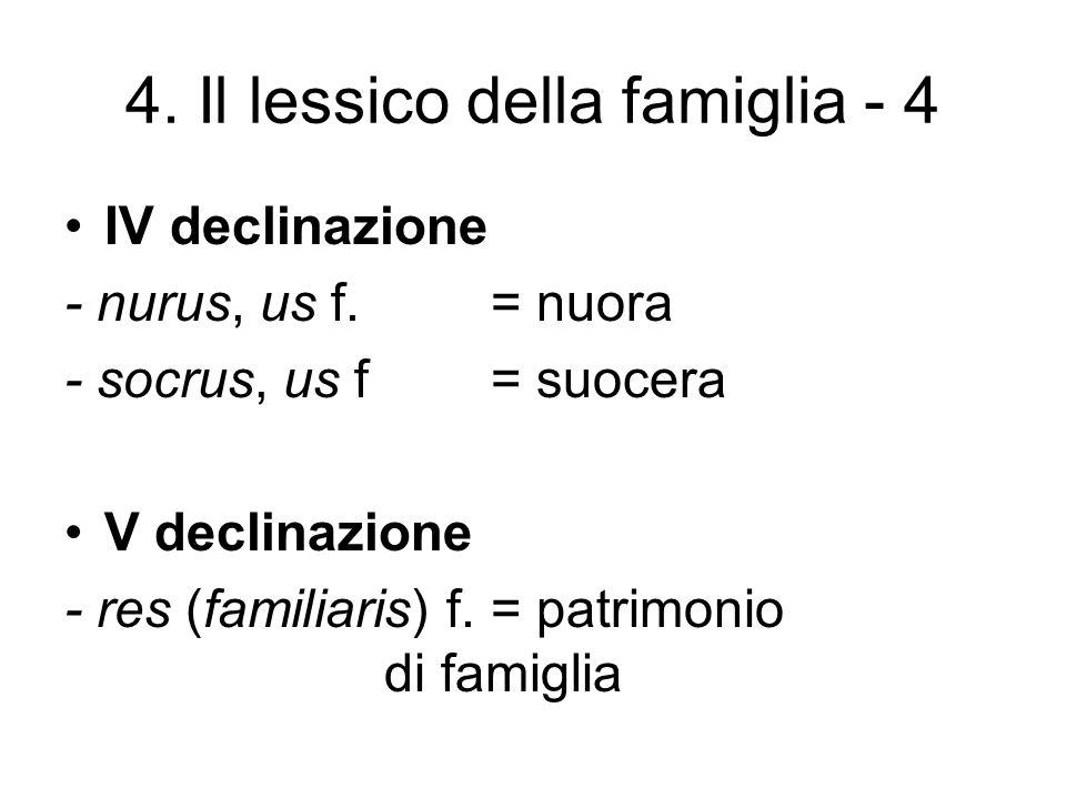 4. Il lessico della famiglia - 4