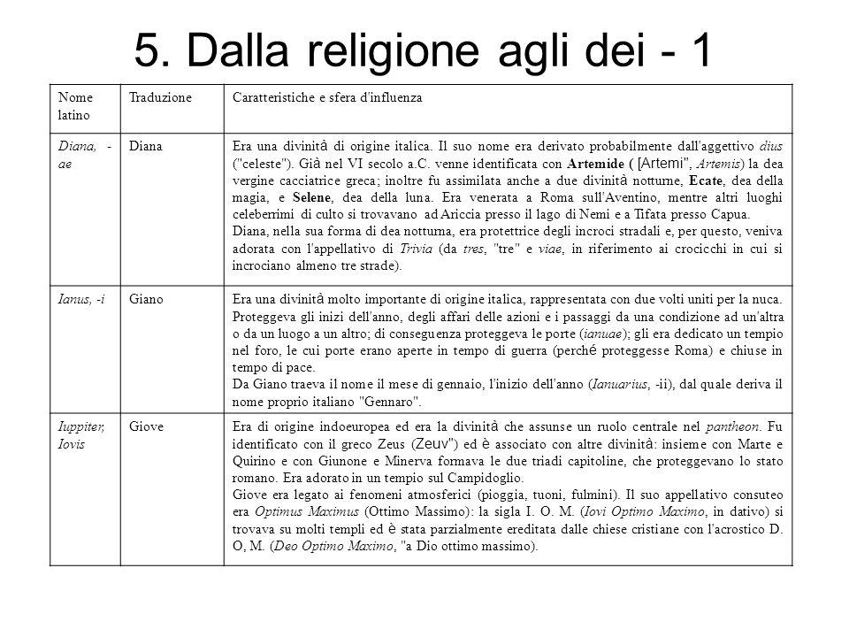 5. Dalla religione agli dei - 1