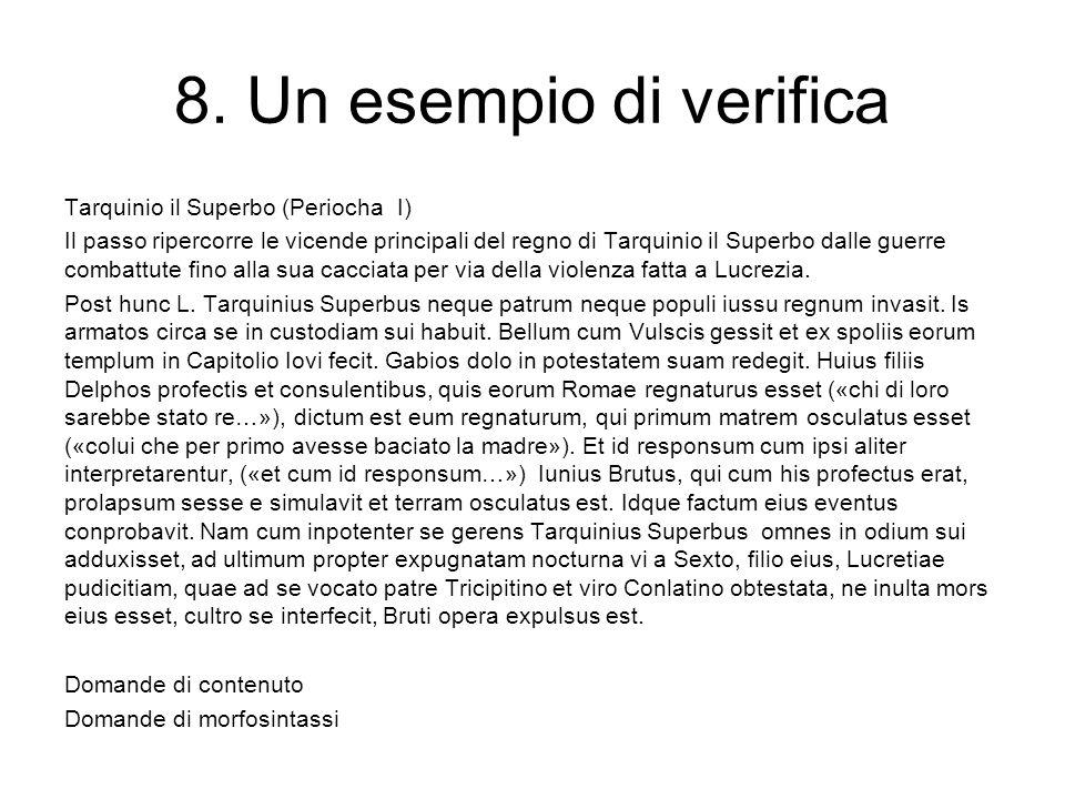 8. Un esempio di verifica