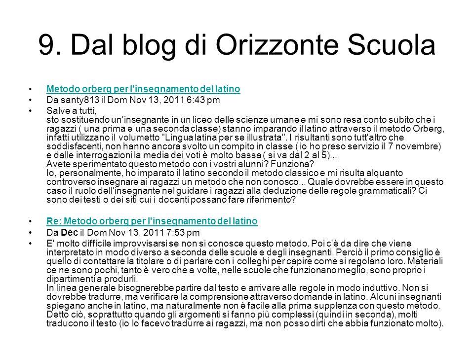 9. Dal blog di Orizzonte Scuola