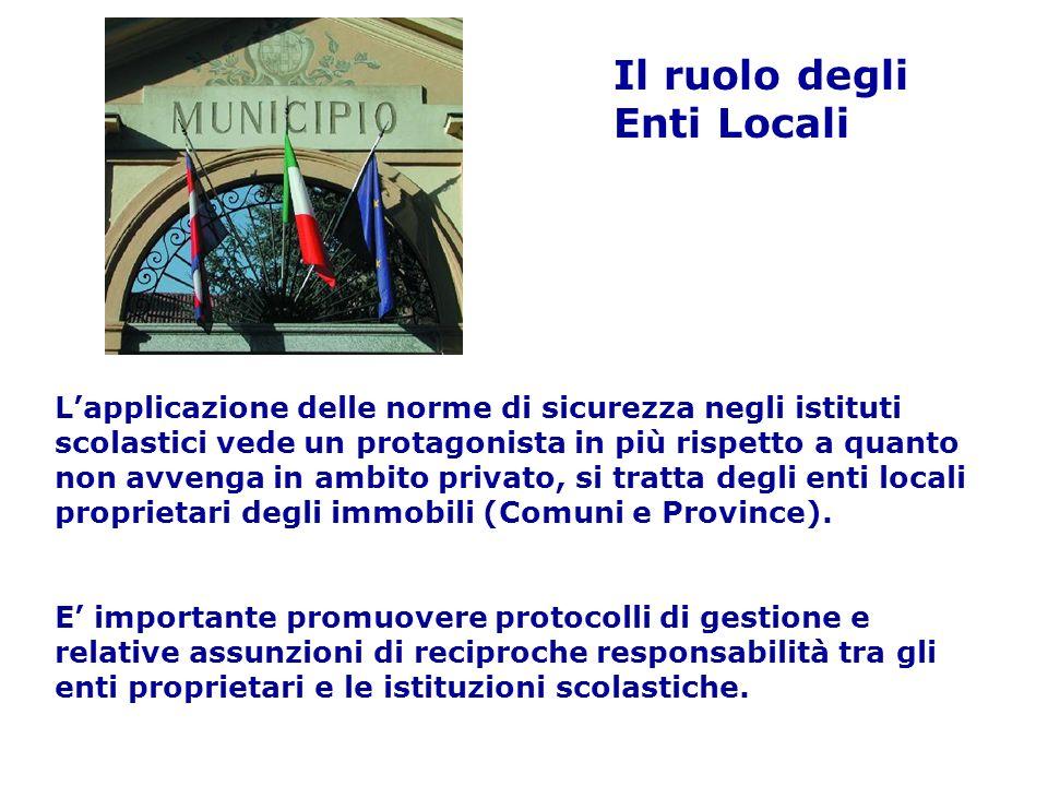 Il ruolo degli Enti Locali