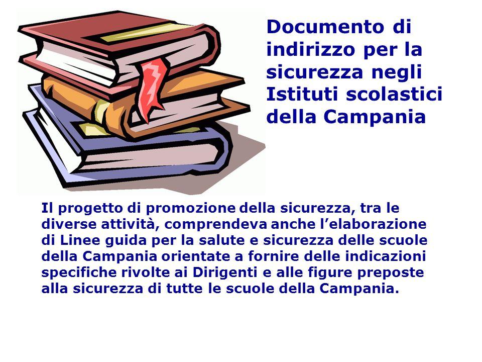 Documento di indirizzo per la sicurezza negli Istituti scolastici della Campania