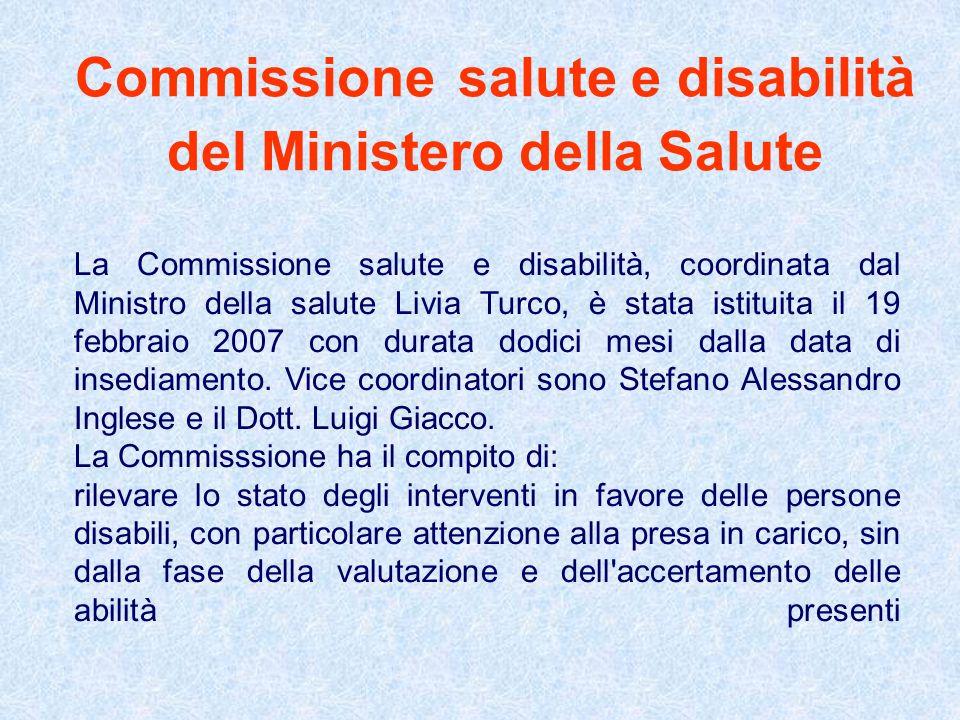 Commissione salute e disabilità del Ministero della Salute