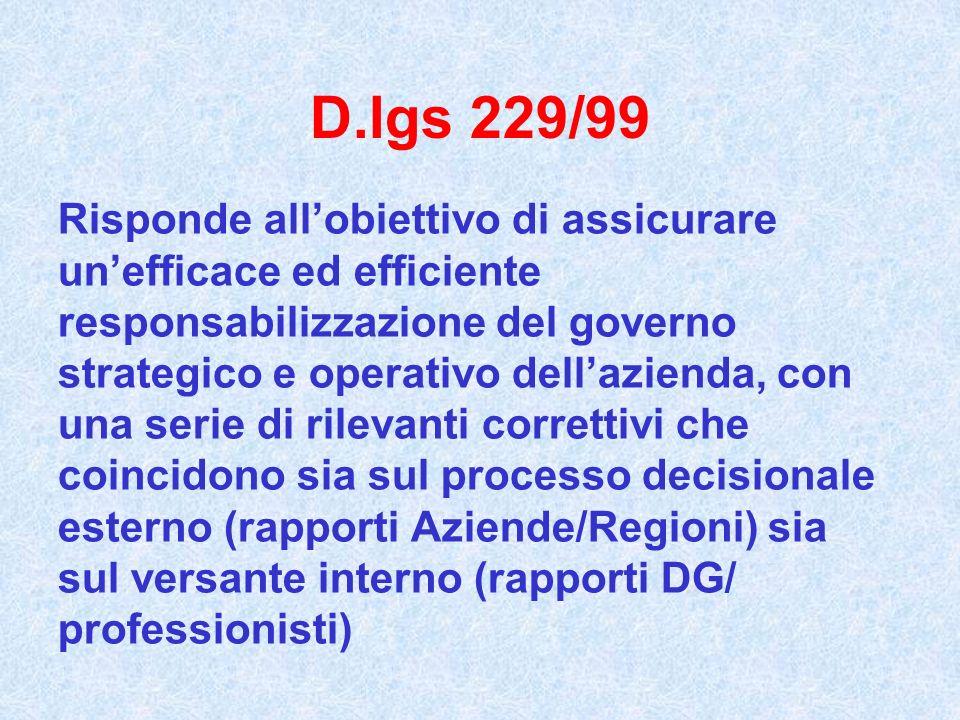 D.lgs 229/99