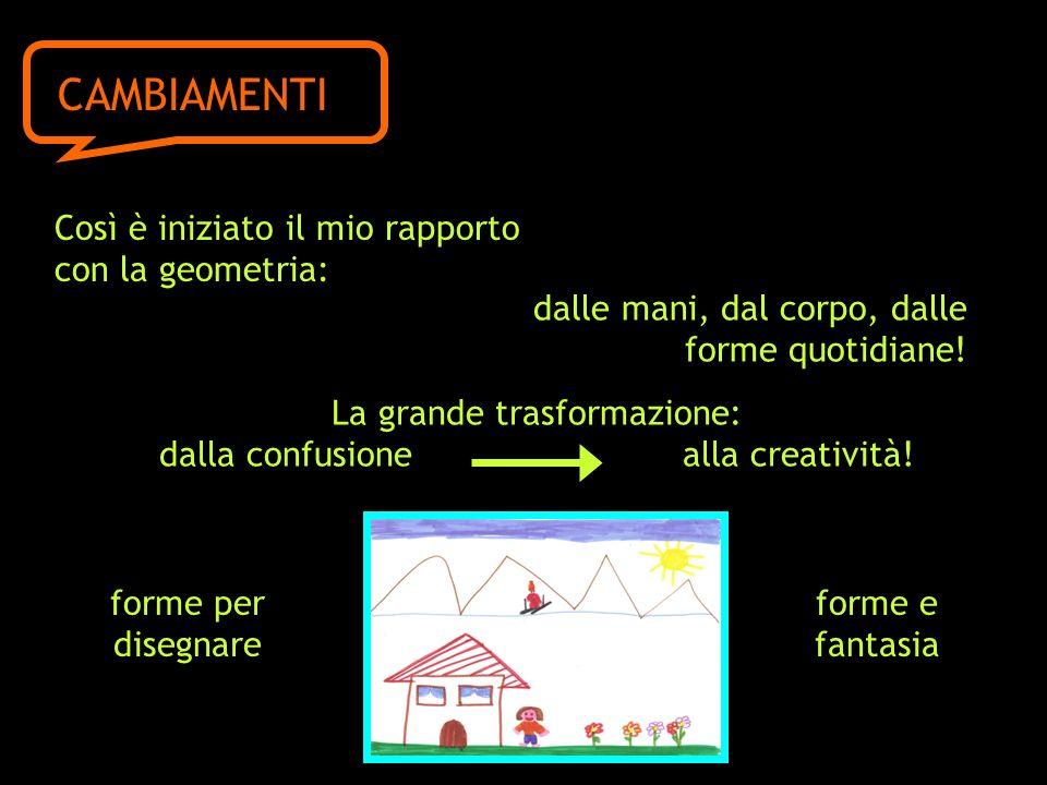 CAMBIAMENTI Così è iniziato il mio rapporto con la geometria: