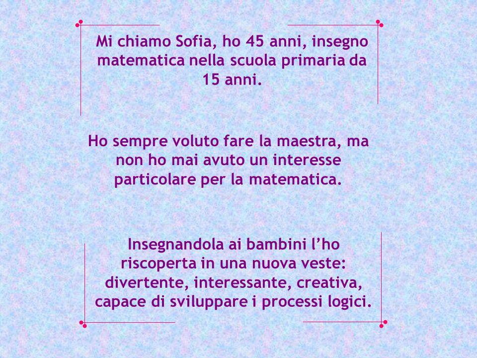 Mi chiamo Sofia, ho 45 anni, insegno matematica nella scuola primaria da 15 anni.