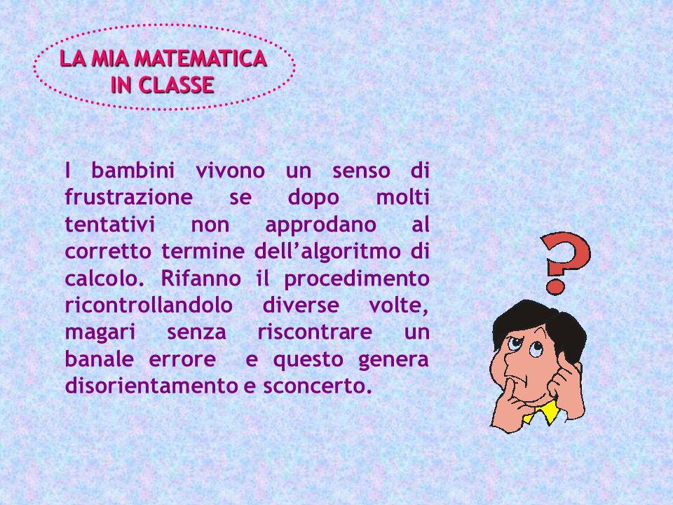 LA MIA MATEMATICA IN CLASSE.