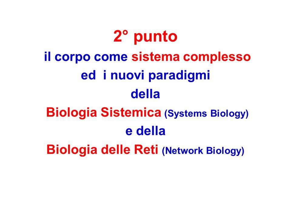 2° punto il corpo come sistema complesso ed i nuovi paradigmi della