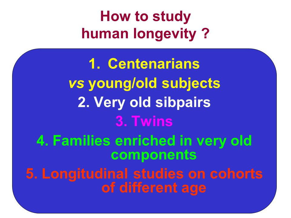 How to study human longevity