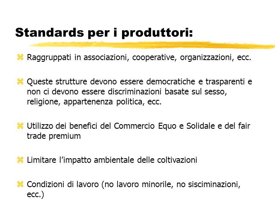 Standards per i produttori: