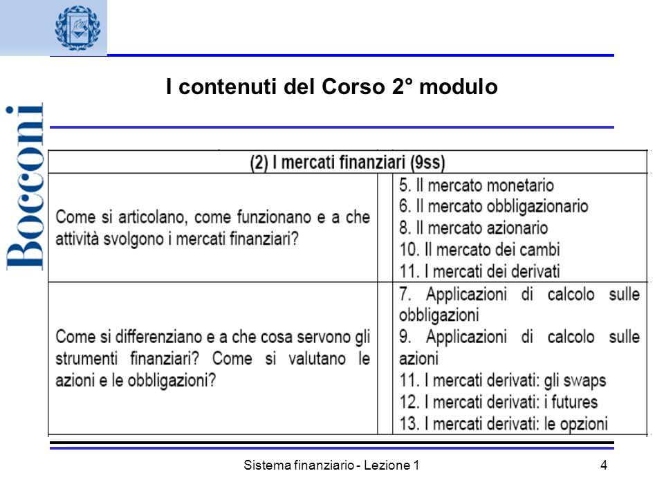 I contenuti del Corso 2° modulo