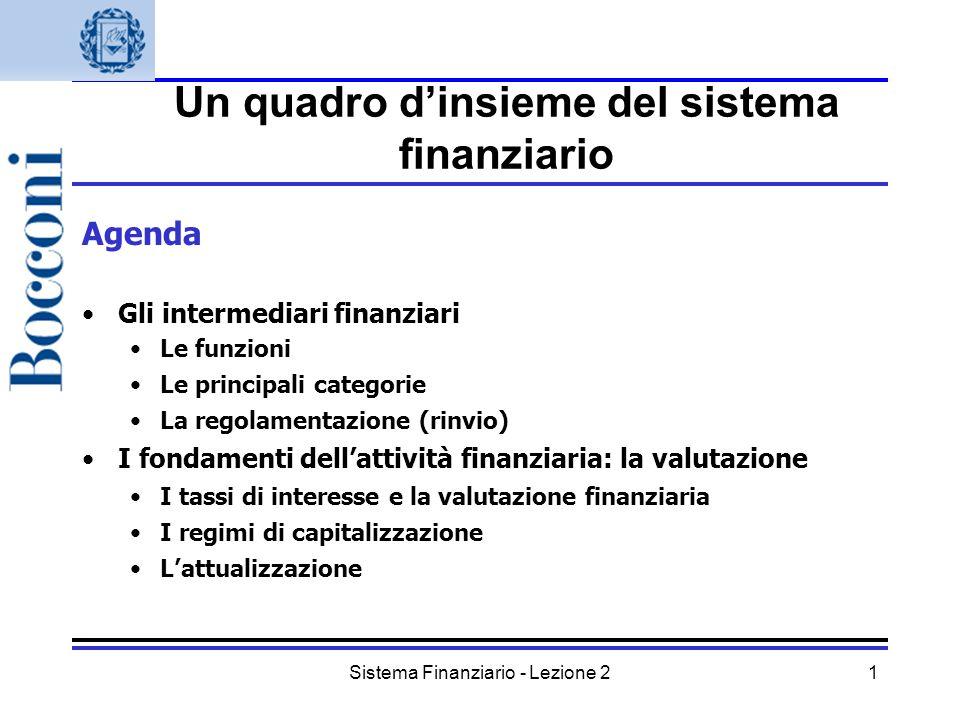 Un quadro d'insieme del sistema finanziario