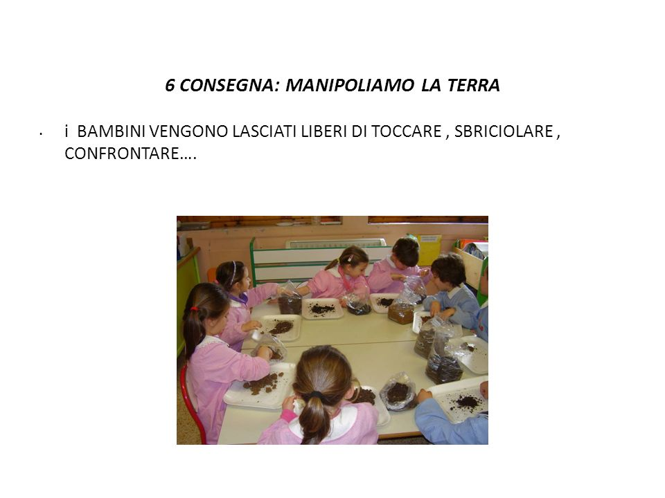 6 CONSEGNA: MANIPOLIAMO LA TERRA