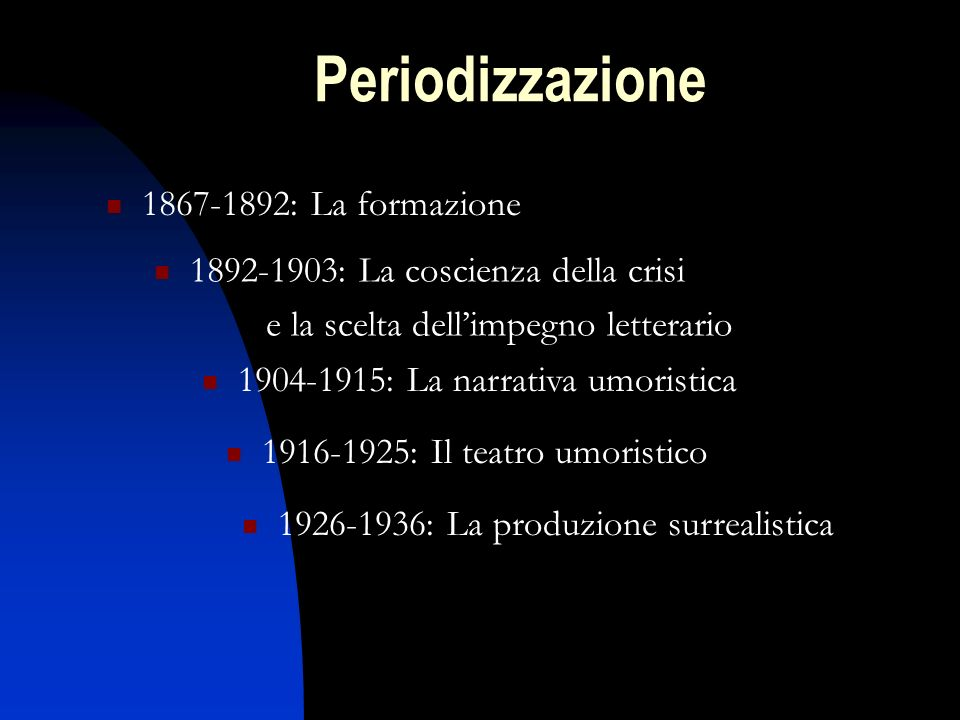 Periodizzazione 1867-1892: La formazione