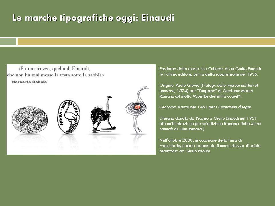 Le marche tipografiche oggi: Einaudi