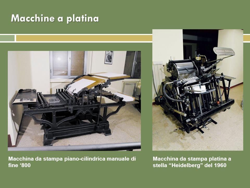 Macchine a platina Macchina da stampa piano-cilindrica manuale di fine '800.