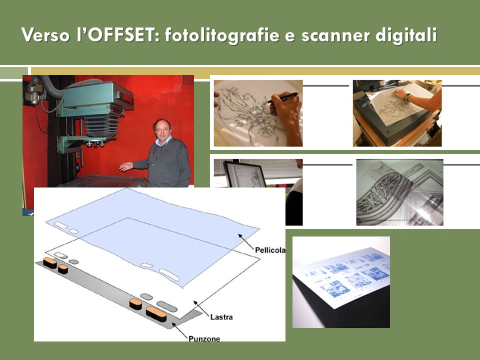 Verso l'OFFSET: fotolitografie e scanner digitali