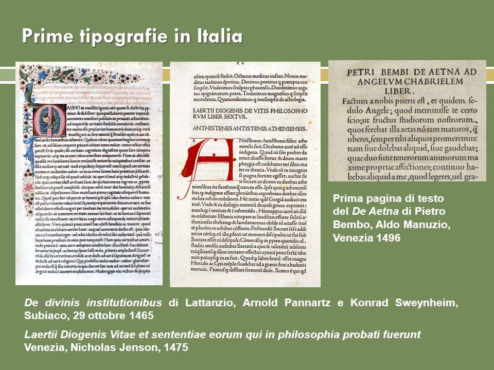 Prime tipografie in Italia