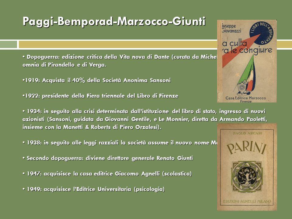Paggi-Bemporad-Marzocco-Giunti