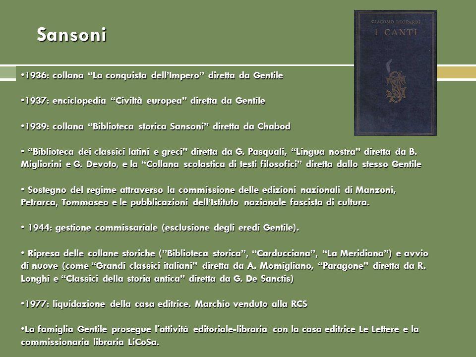 Sansoni 1936: collana La conquista dell'Impero diretta da Gentile