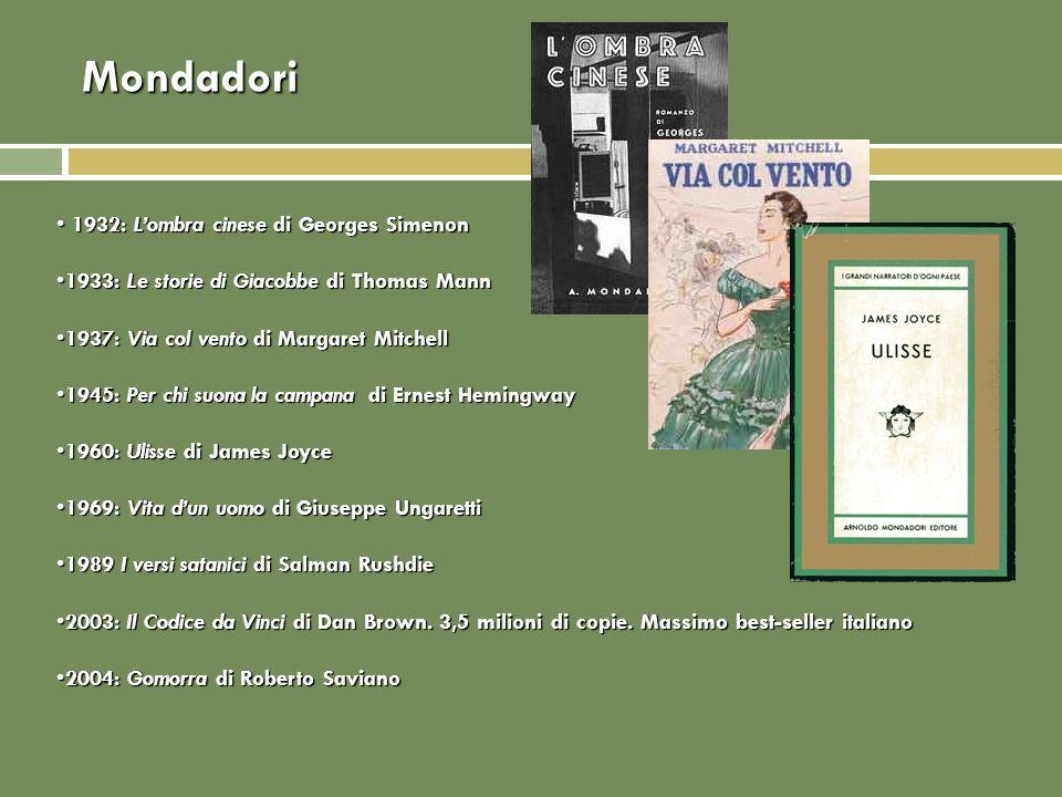 Mondadori 1932: L'ombra cinese di Georges Simenon
