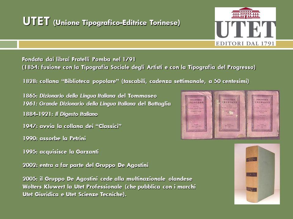 UTET (Unione Tipografico-Editrice Torinese)
