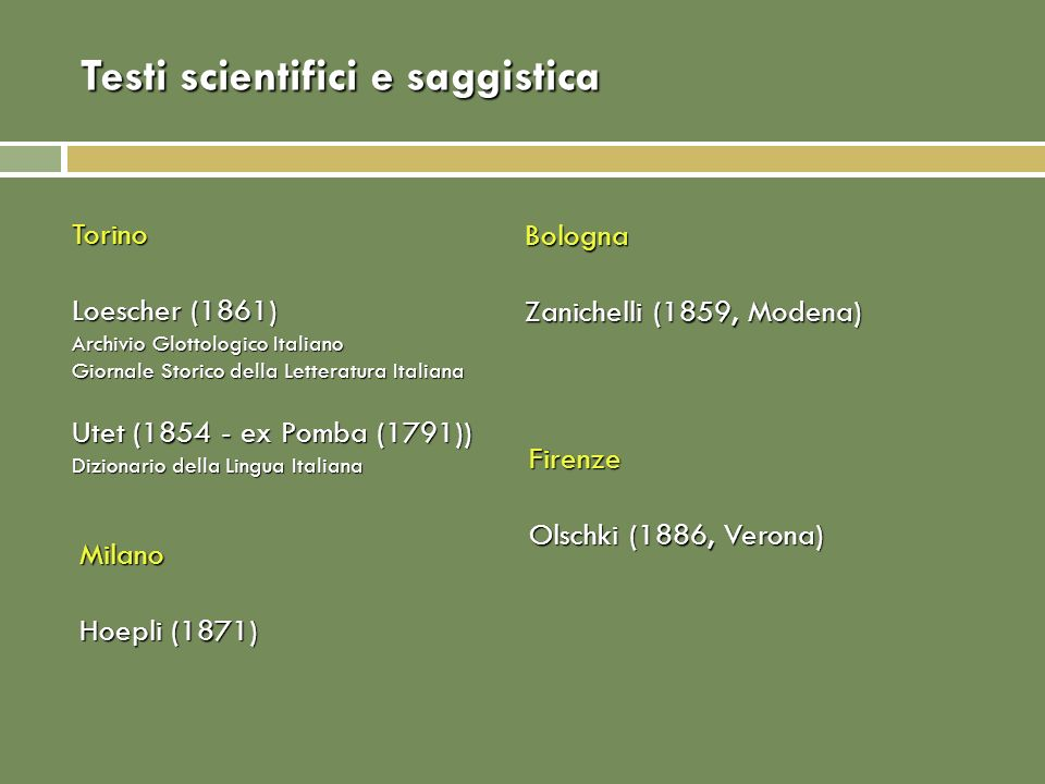 Testi scientifici e saggistica