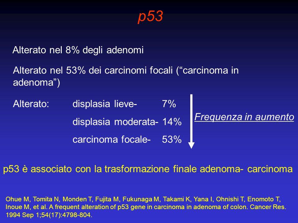 p53 Alterato nel 8% degli adenomi