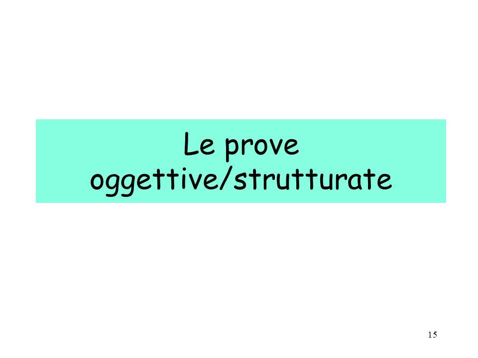 Le prove oggettive/strutturate