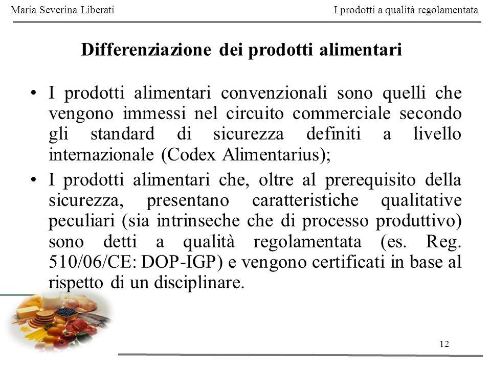 Differenziazione dei prodotti alimentari
