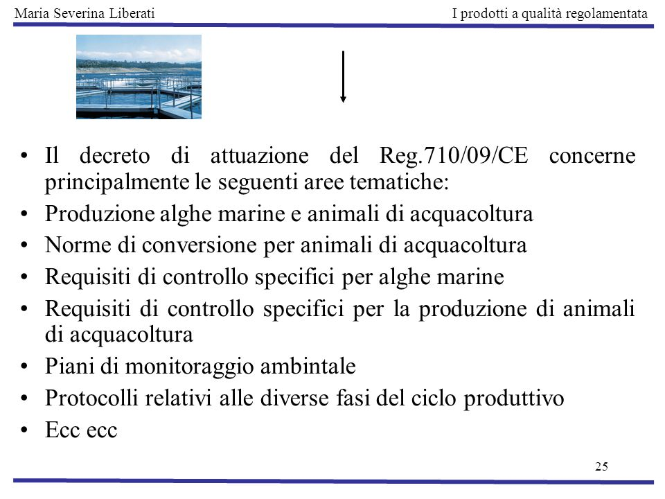 Produzione alghe marine e animali di acquacoltura