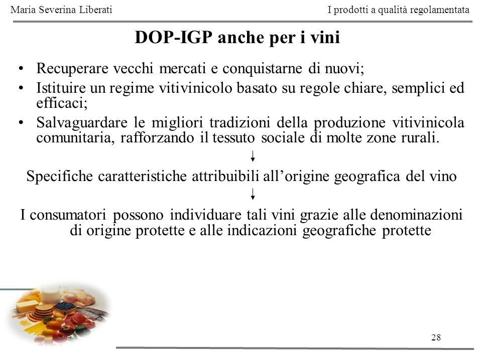DOP-IGP anche per i vini