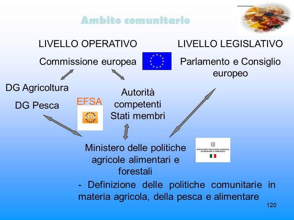 Ambito comunitario LIVELLO OPERATIVO Commissione europea