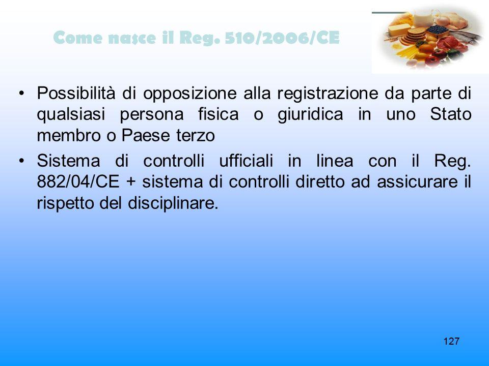 Come nasce il Reg. 510/2006/CE