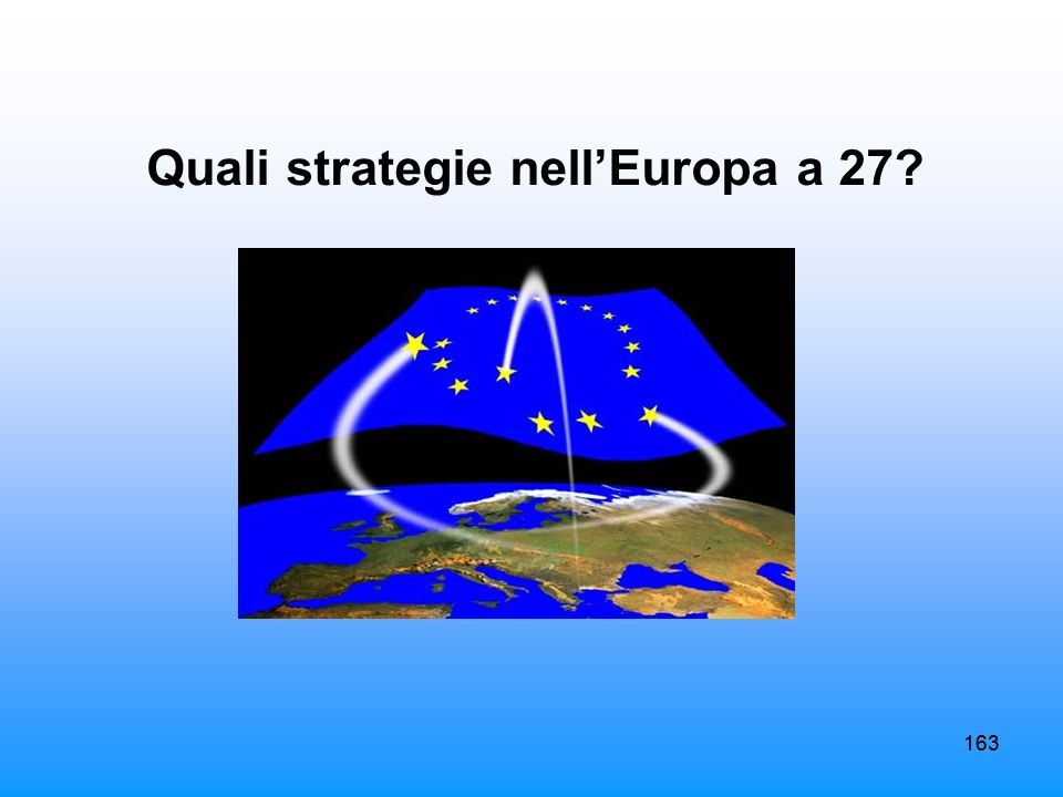 Quali strategie nell'Europa a 27