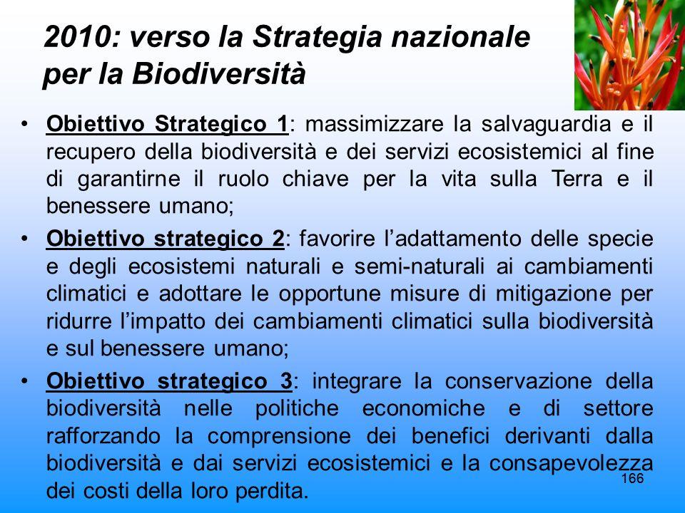 2010: verso la Strategia nazionale per la Biodiversità
