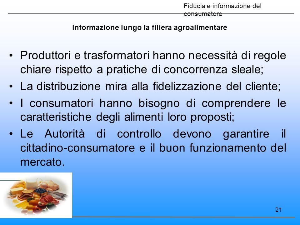Informazione lungo la filiera agroalimentare