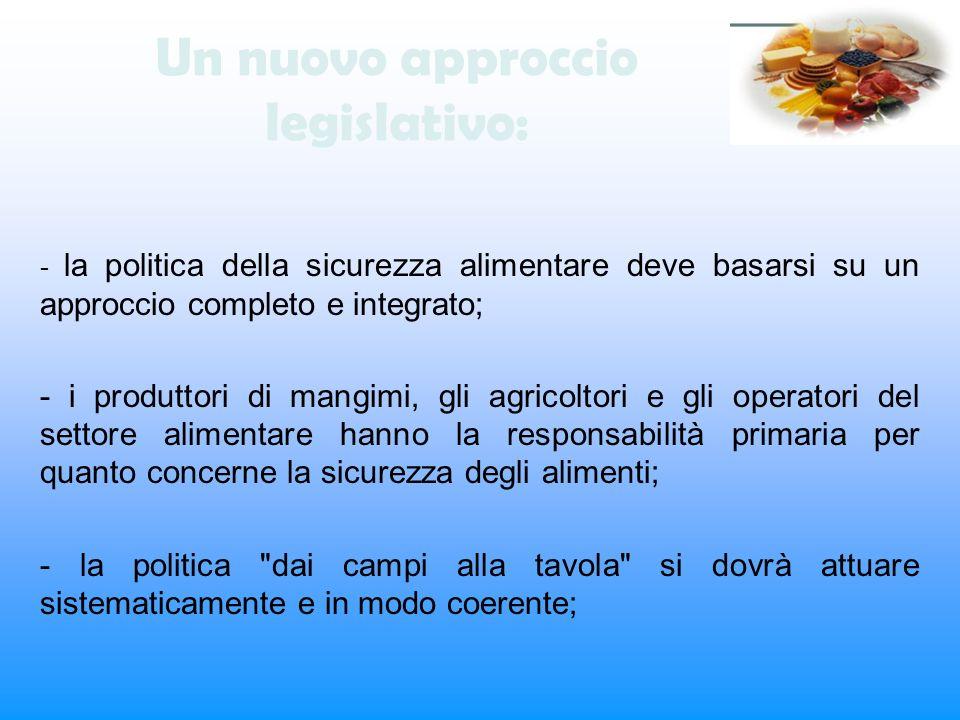 Un nuovo approccio legislativo: