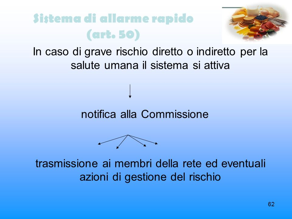 Sistema di allarme rapido (art. 50)