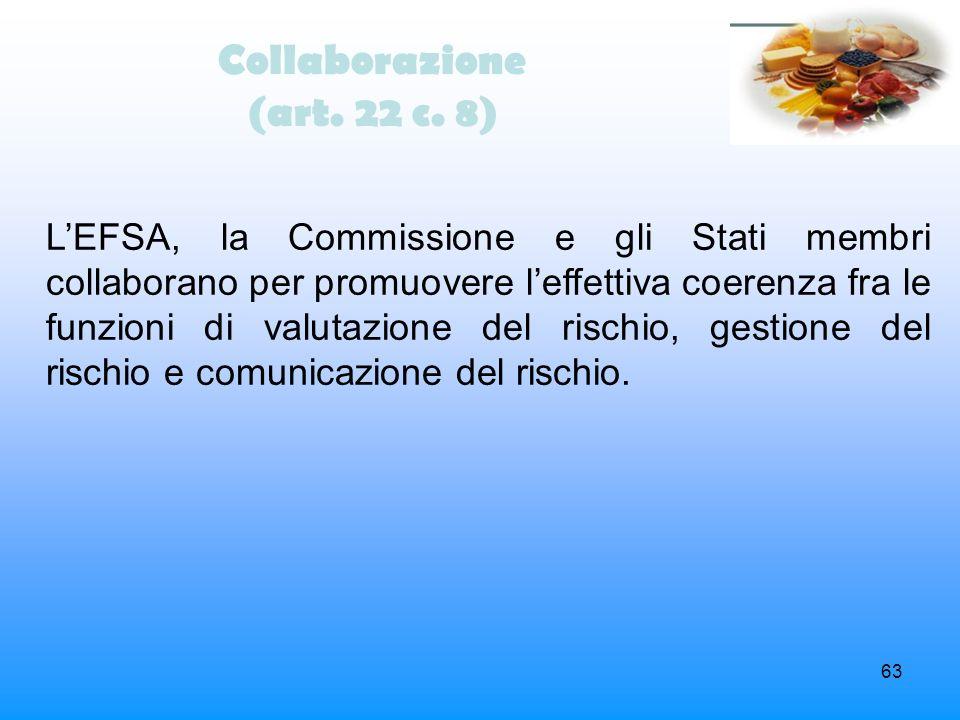 Collaborazione (art. 22 c. 8)