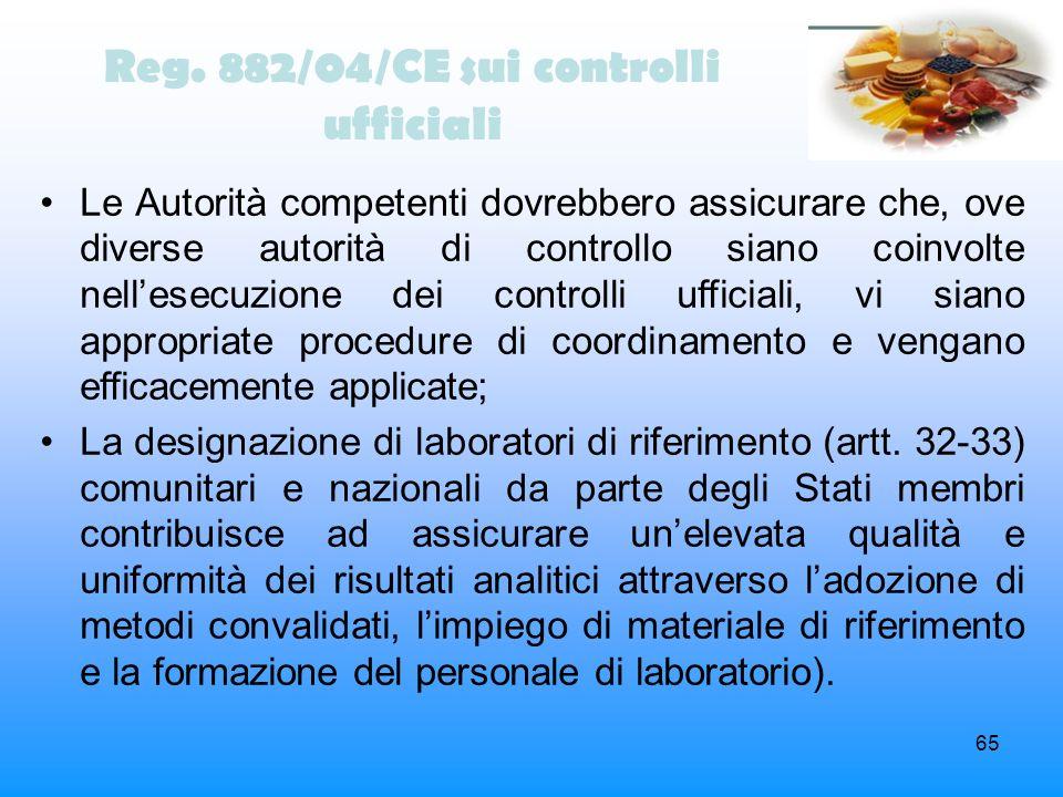 Reg. 882/04/CE sui controlli ufficiali