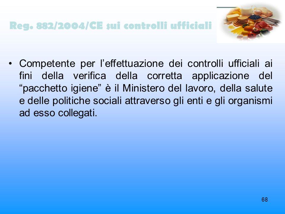 Reg. 882/2004/CE sui controlli ufficiali