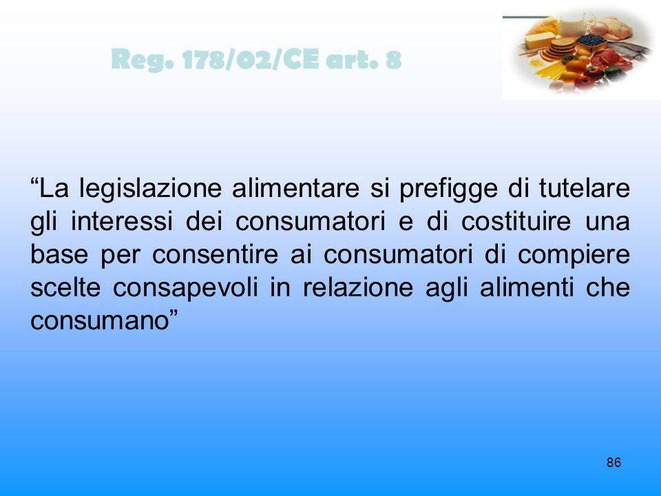 Reg. 178/02/CE art. 8