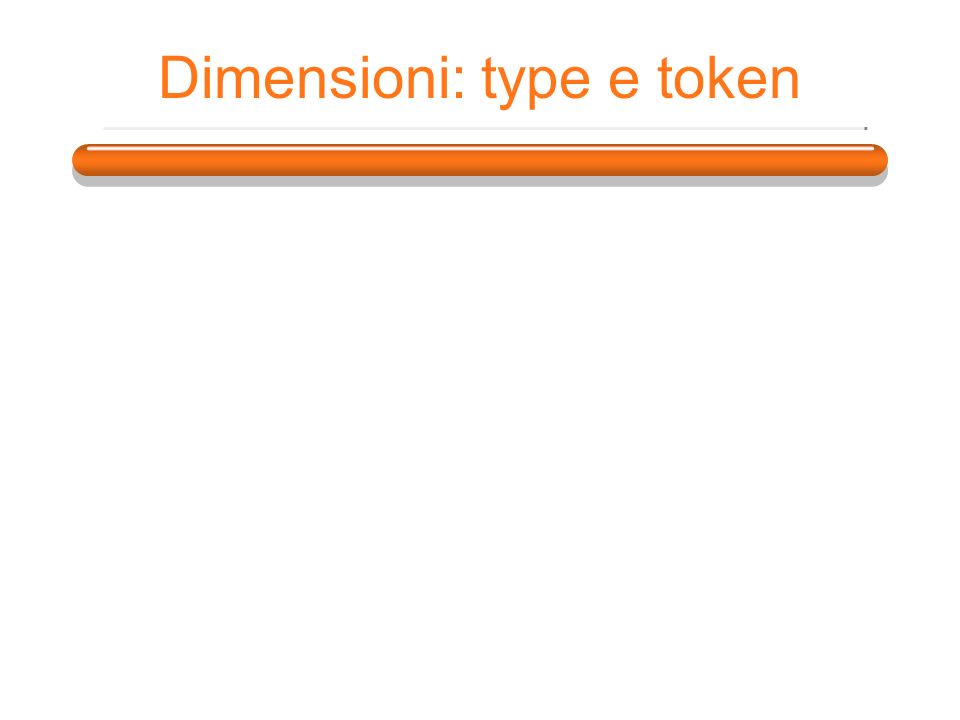 Dimensioni: type e token