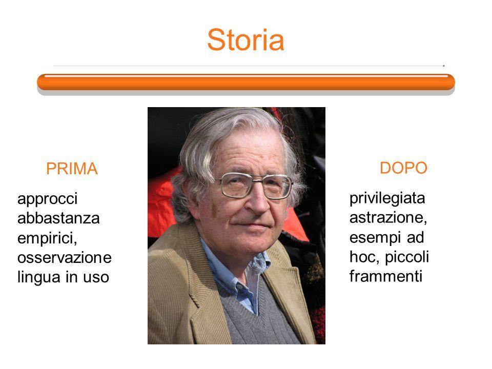 Storia PRIMA. approcci abbastanza empirici, osservazione lingua in uso.