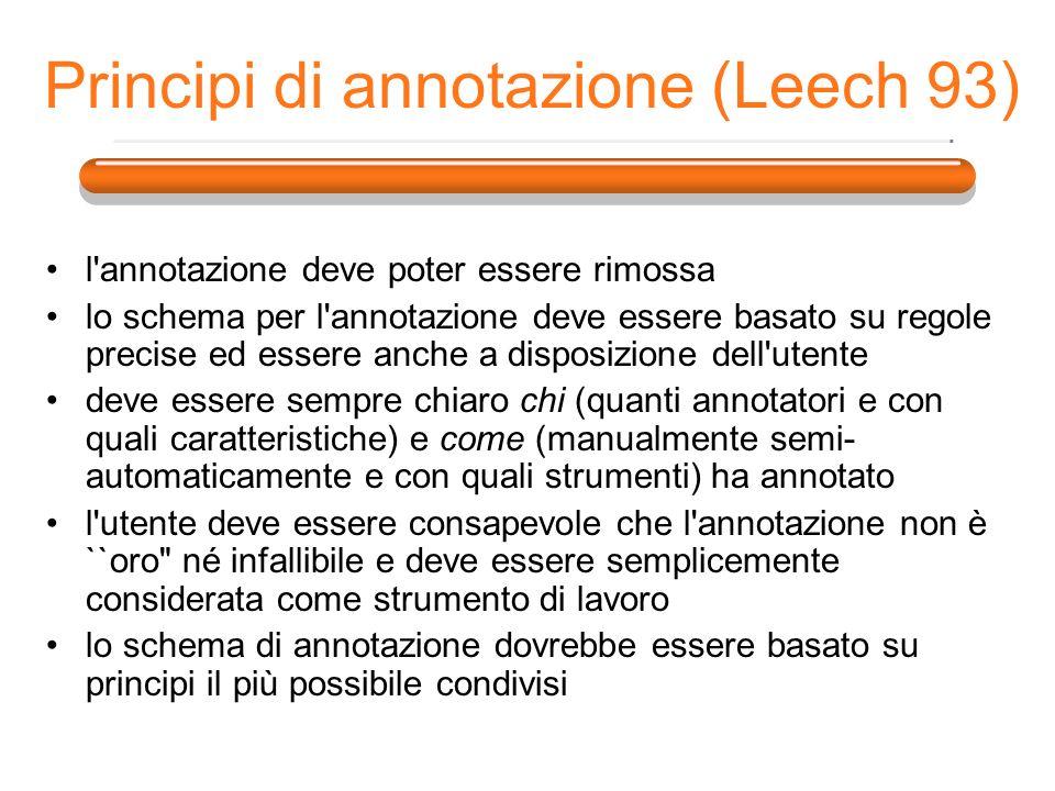 Principi di annotazione (Leech 93)