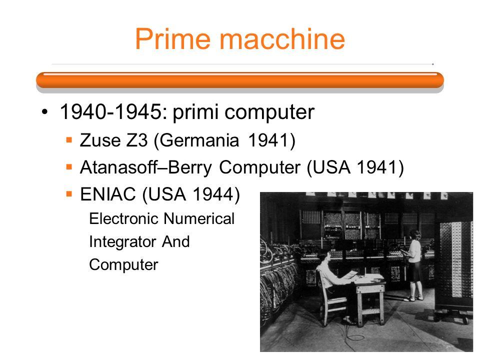 Prime macchine 1940-1945: primi computer Zuse Z3 (Germania 1941)