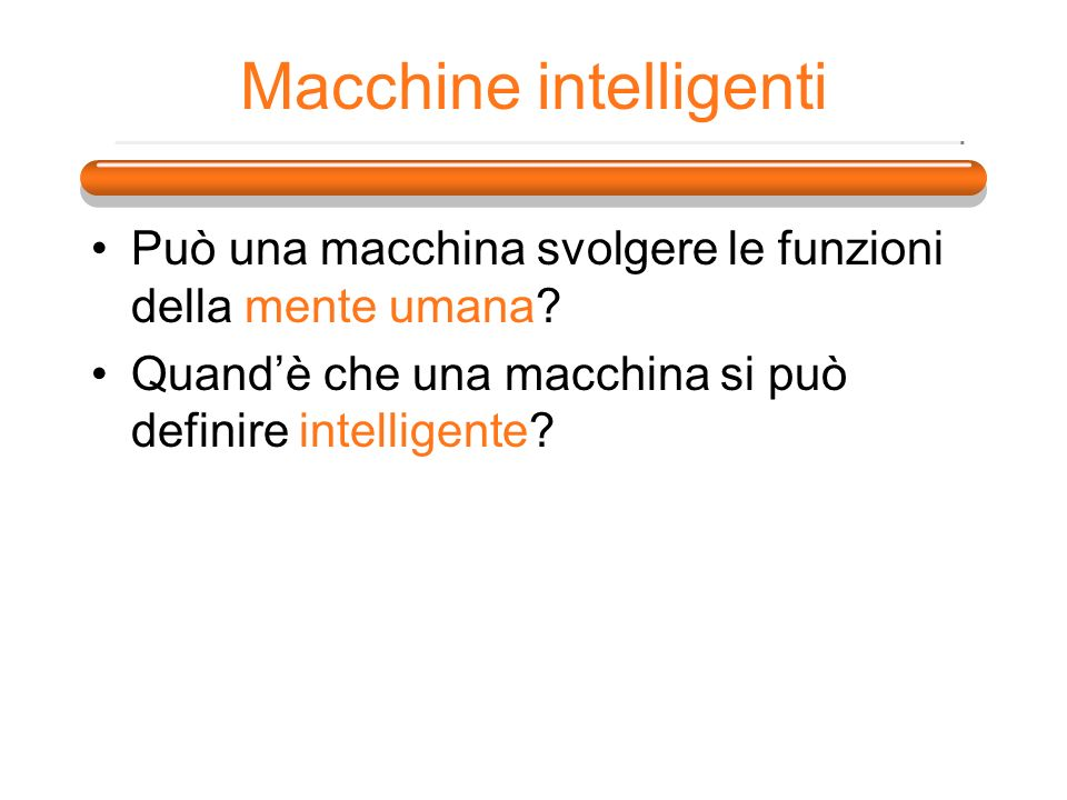 Macchine intelligenti