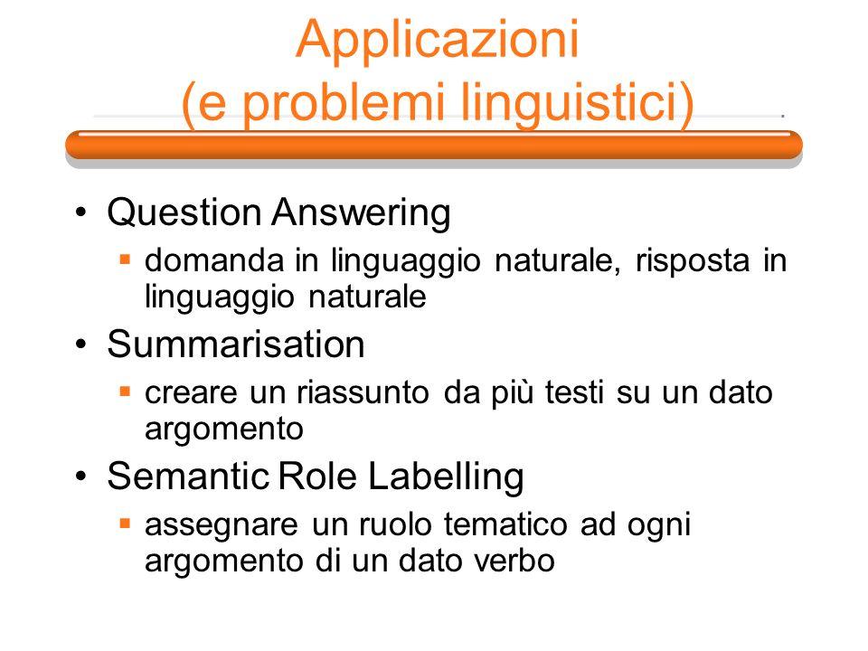 Applicazioni (e problemi linguistici)