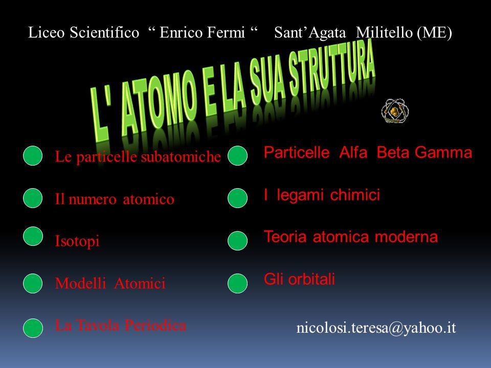 L atomo e la sua struttura